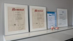 Meisterbriefe und Diplom