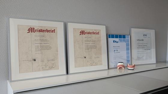 Meisterbriefe, Urkunde und Diplom
